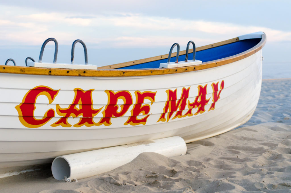 Boat Parked On The Beach In The Cape May