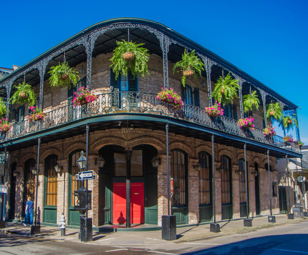 French Quarter Architecture In New Orleans, Louisiana. House In