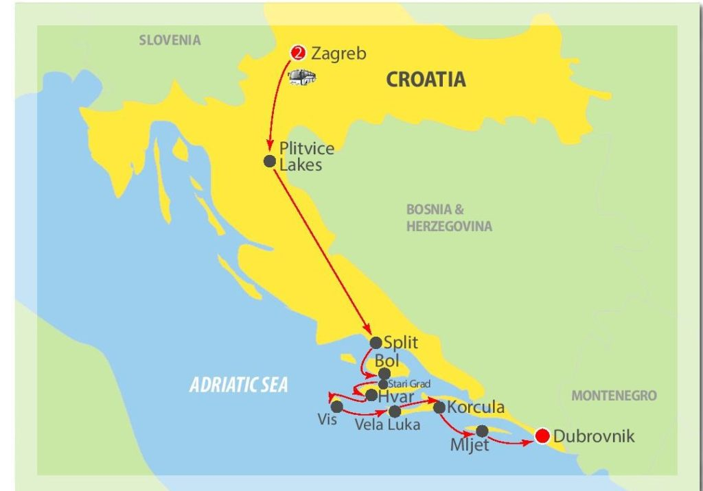 Croatia Cruise MAP