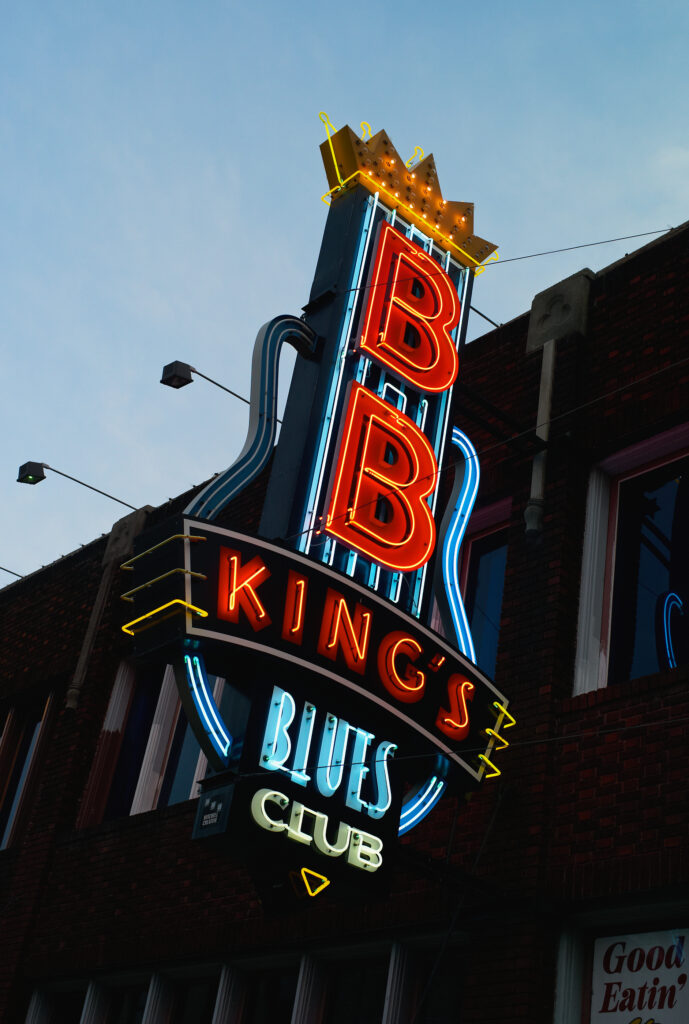Memphis, Tennessee – July 21 2009: The Illuminated Neon Sign Of