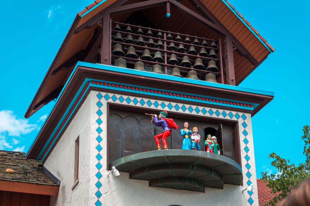 Clock Tower Telling The Story Of The Pied Piper At The Bavarian
