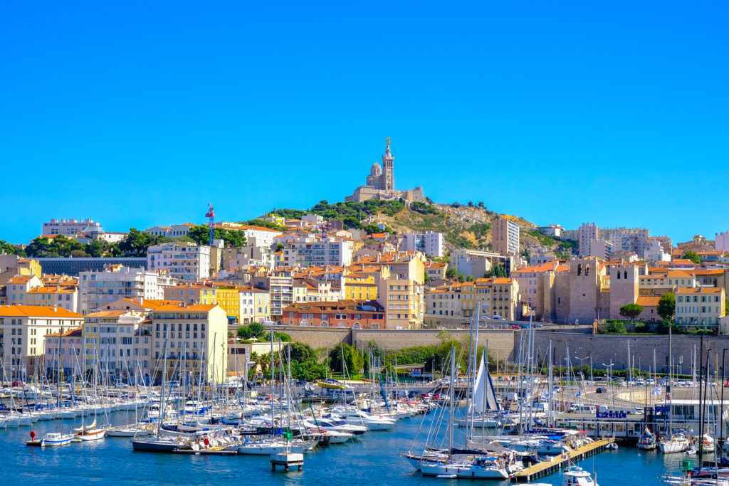 Marseille, France – August 11, 2018 – Marseille Embankment With