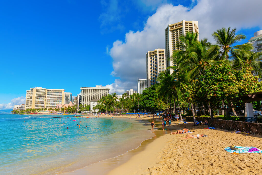 View Of Waikiki Beach, Honolulu, Hawaii