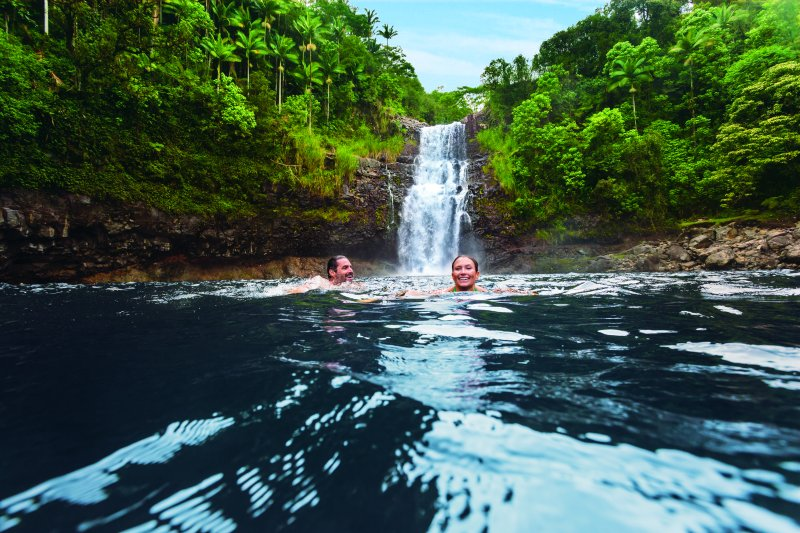 ncl_Hawaii_couple_waterfall_swim_fun