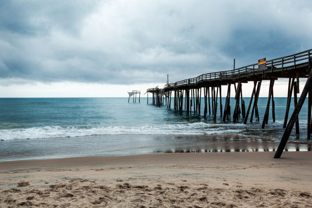 Old Fishing Pier In Frisco North Carolina Outer Banks Left In Ru
