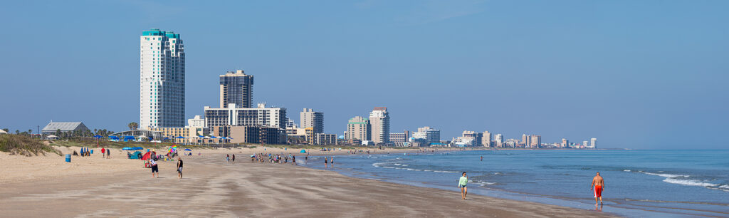 View Of The South Padre Island, On The Gulf Of Mexico, Texas, Un