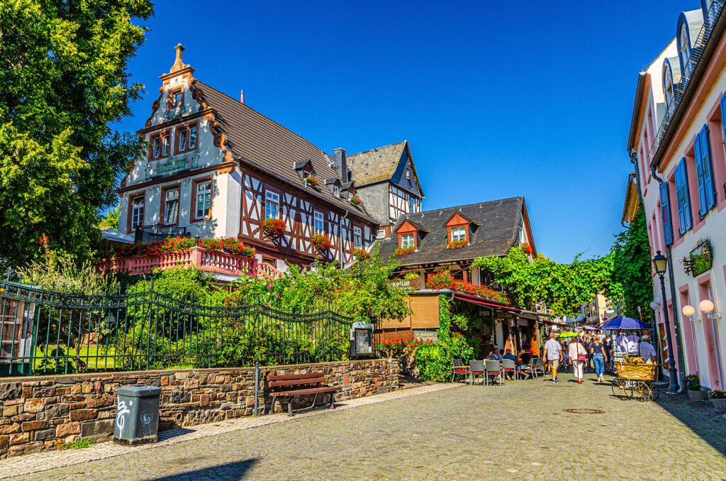 Rudesheim Am Rhein, Germany, August 24, 2019: Traditional German