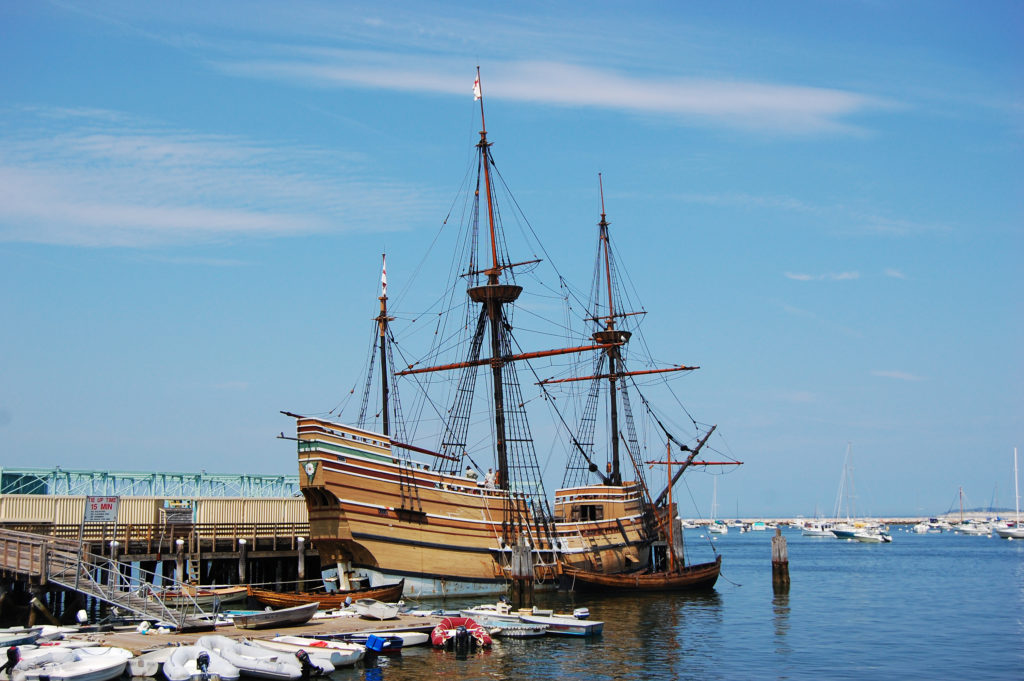 The Mayflower II at Plymouth, Massachusetts, USA.