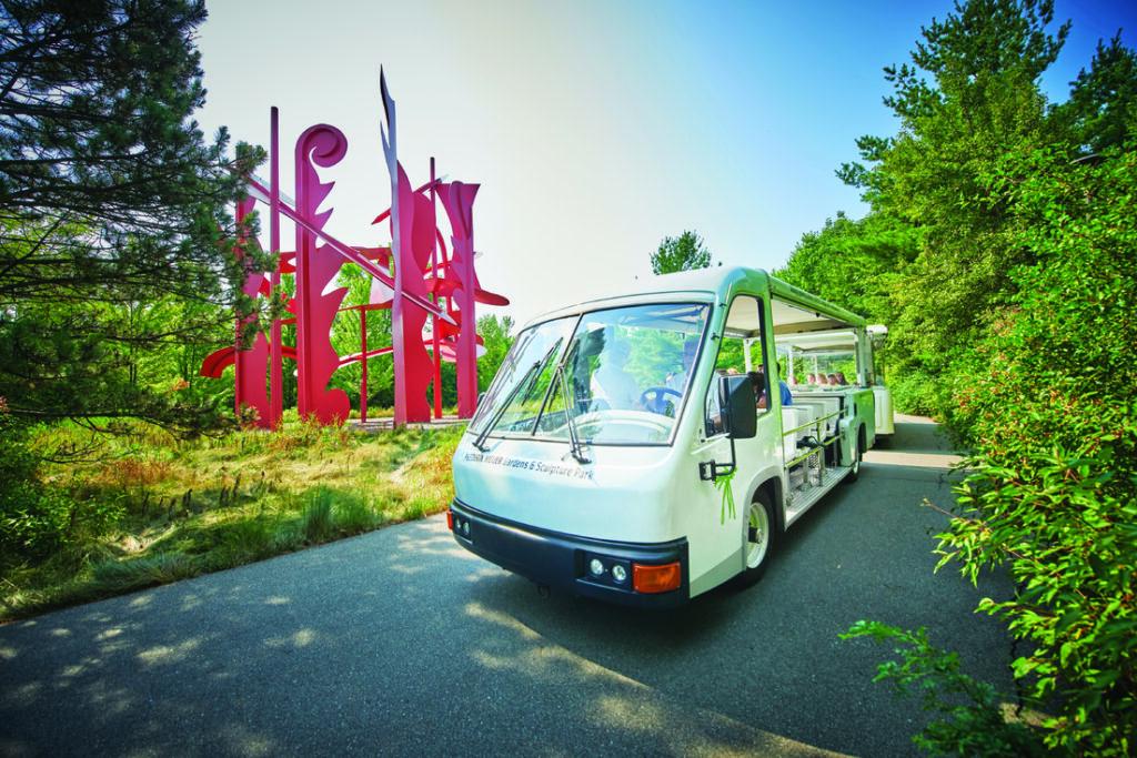 Tram Tour at Frederik Meijer Gardens Sculpture Park Closeup