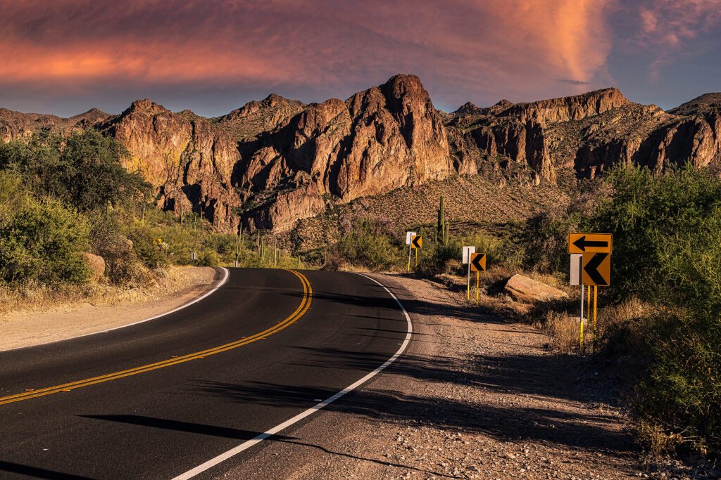 A View Of The Sonoran Desert Near Phoenix, Arizona.